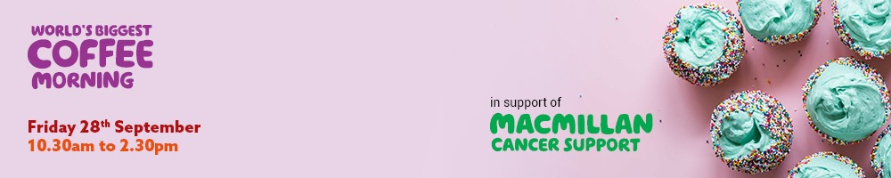 You're invited to our 4th annual MacMillan Coffee Morning 1