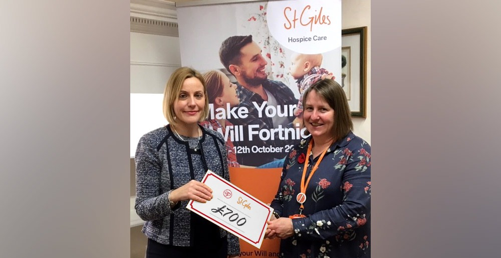 £700 raised for St. Giles during Wills Fortnight 1