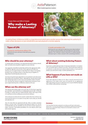 Why Make a Lasting Power of Attorney? 5